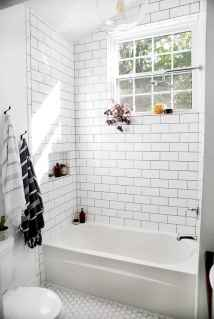 100 best farmhouse bathroom tile shower decor ideas and remodel to inspiring your bathroom (102)