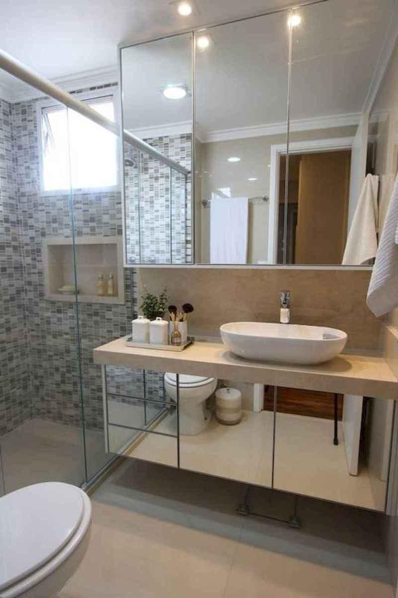 100 best farmhouse bathroom tile shower decor ideas and remodel to inspiring your bathroom (37)