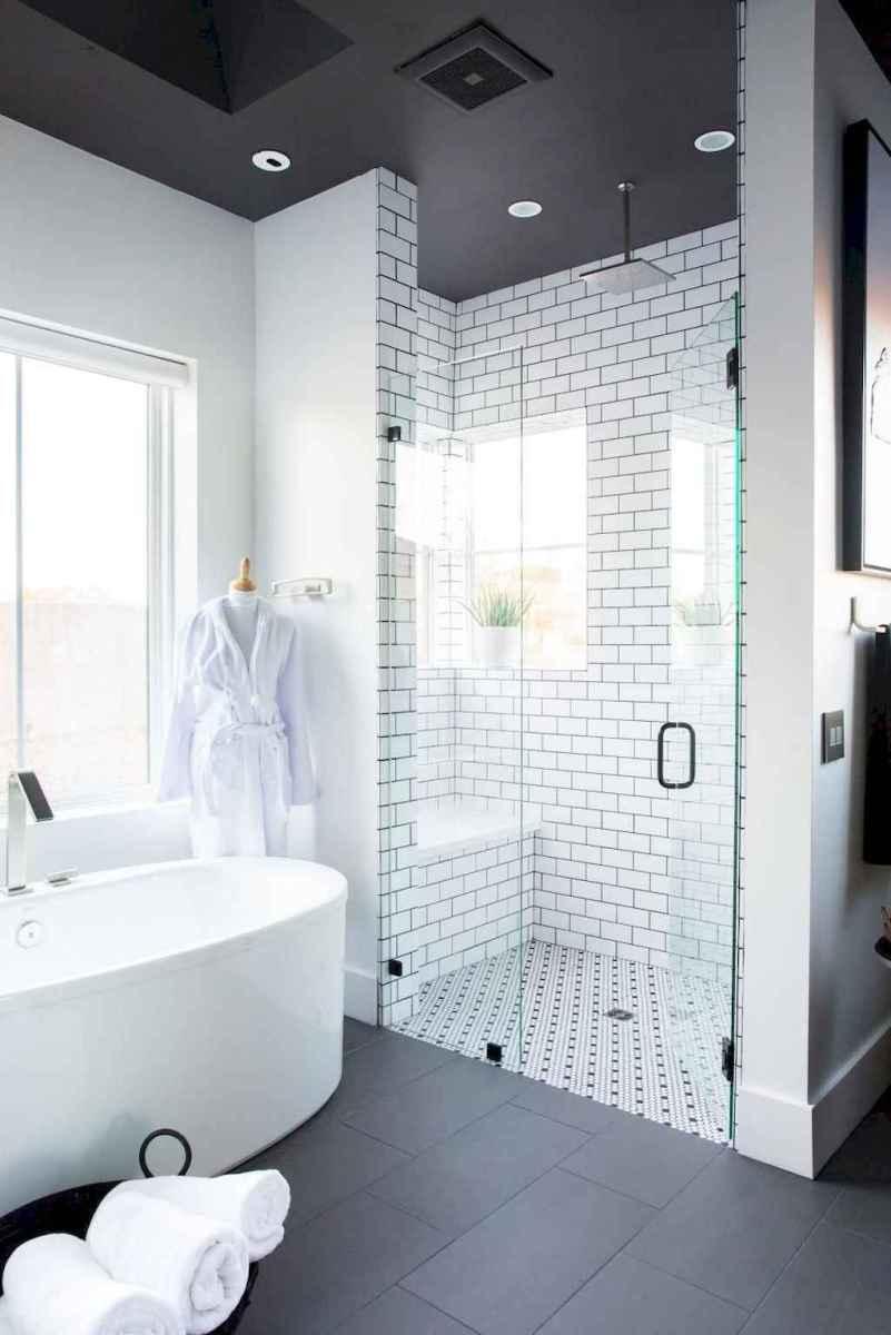 100 best farmhouse bathroom tile shower decor ideas and remodel to inspiring your bathroom (48)