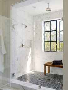 100 best farmhouse bathroom tile shower decor ideas and remodel to inspiring your bathroom (50)