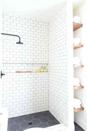 100 best farmhouse bathroom tile shower decor ideas and remodel to inspiring your bathroom (53)
