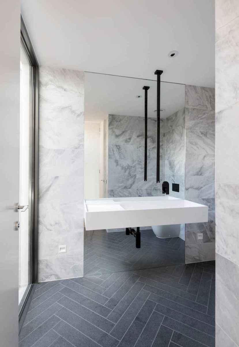 100 best farmhouse bathroom tile shower decor ideas and remodel to inspiring your bathroom (59)