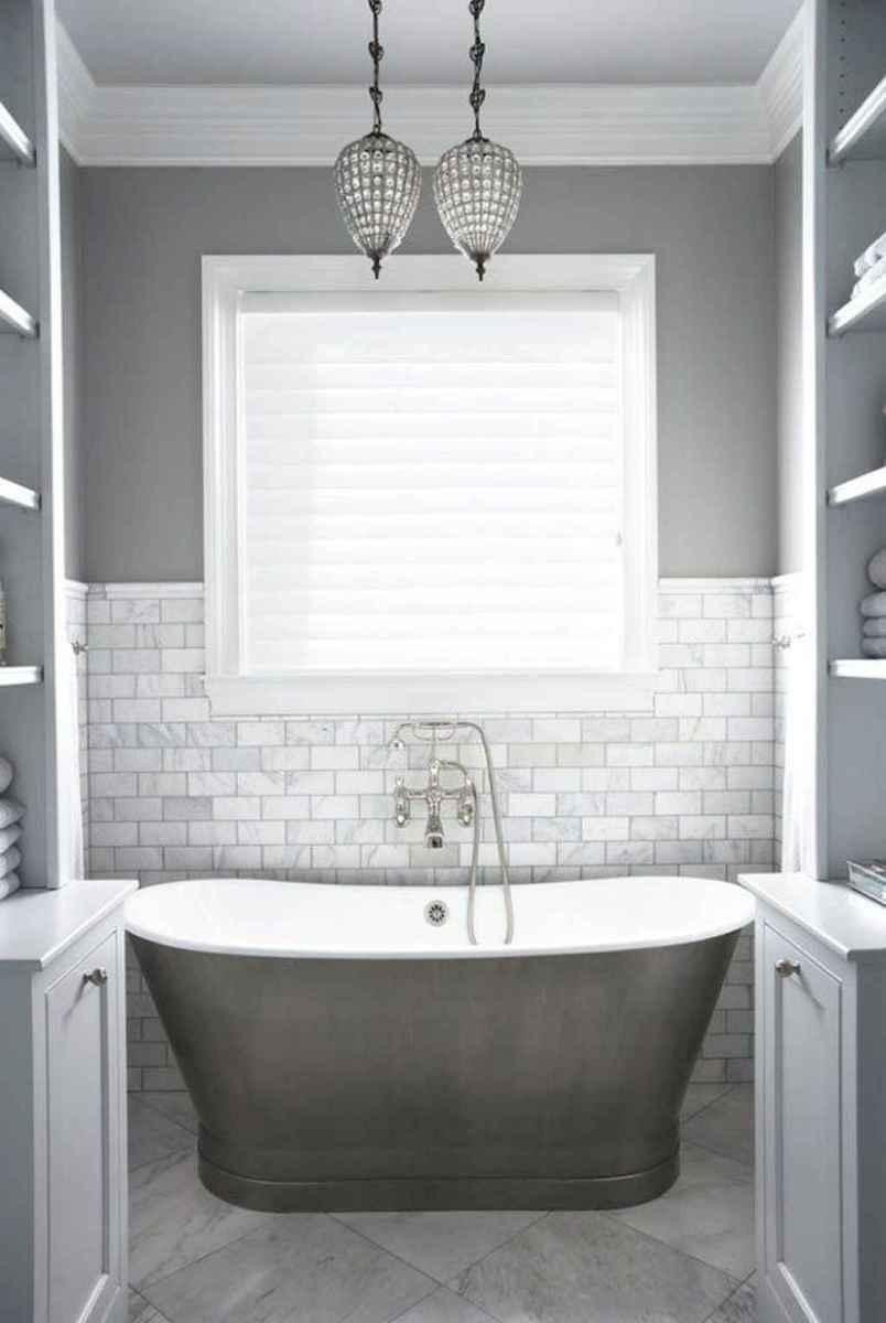 100 best farmhouse bathroom tile shower decor ideas and remodel to inspiring your bathroom (60)