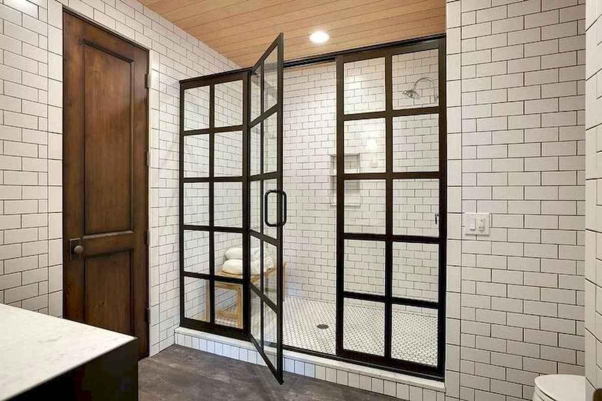 100 best farmhouse bathroom tile shower decor ideas and remodel to inspiring your bathroom (62)