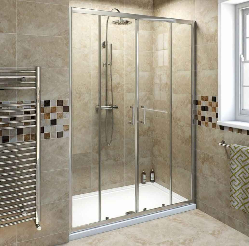 100 best farmhouse bathroom tile shower decor ideas and remodel to inspiring your bathroom (68)