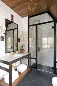 100 best farmhouse bathroom tile shower decor ideas and remodel to inspiring your bathroom (77)