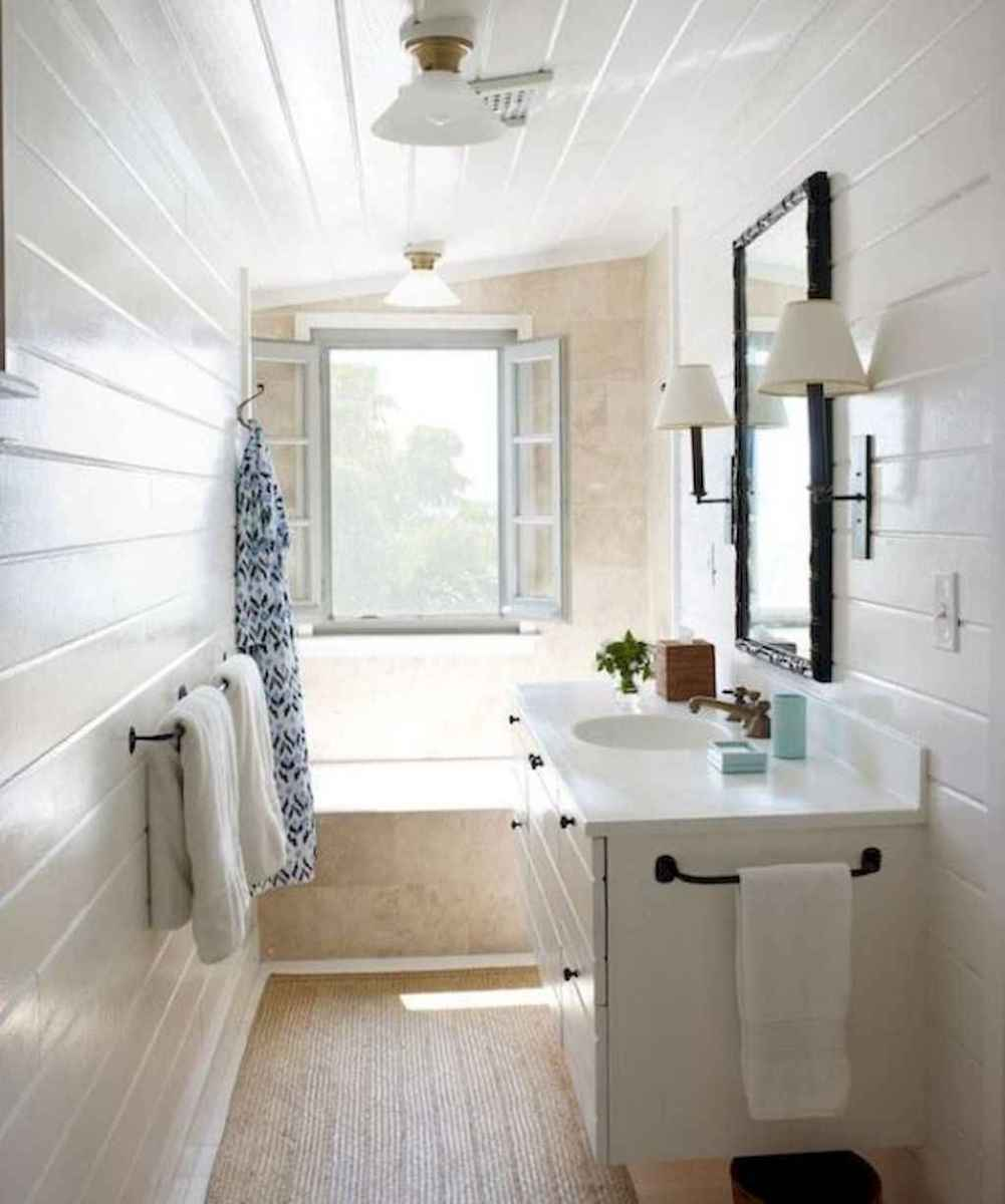 100 best farmhouse bathroom tile shower decor ideas and remodel to inspiring your bathroom (87)