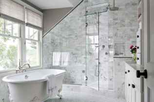 100 best farmhouse bathroom tile shower decor ideas and remodel to inspiring your bathroom (90)