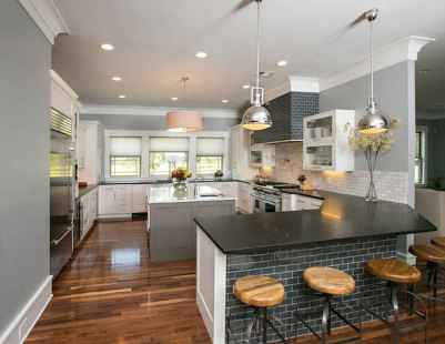 120 awesome farmhouse kitchen design ideas and remodel to inspire your kitchen (127)