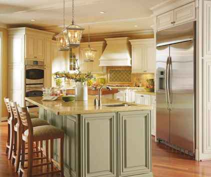 120 awesome farmhouse kitchen design ideas and remodel to inspire your kitchen (80)