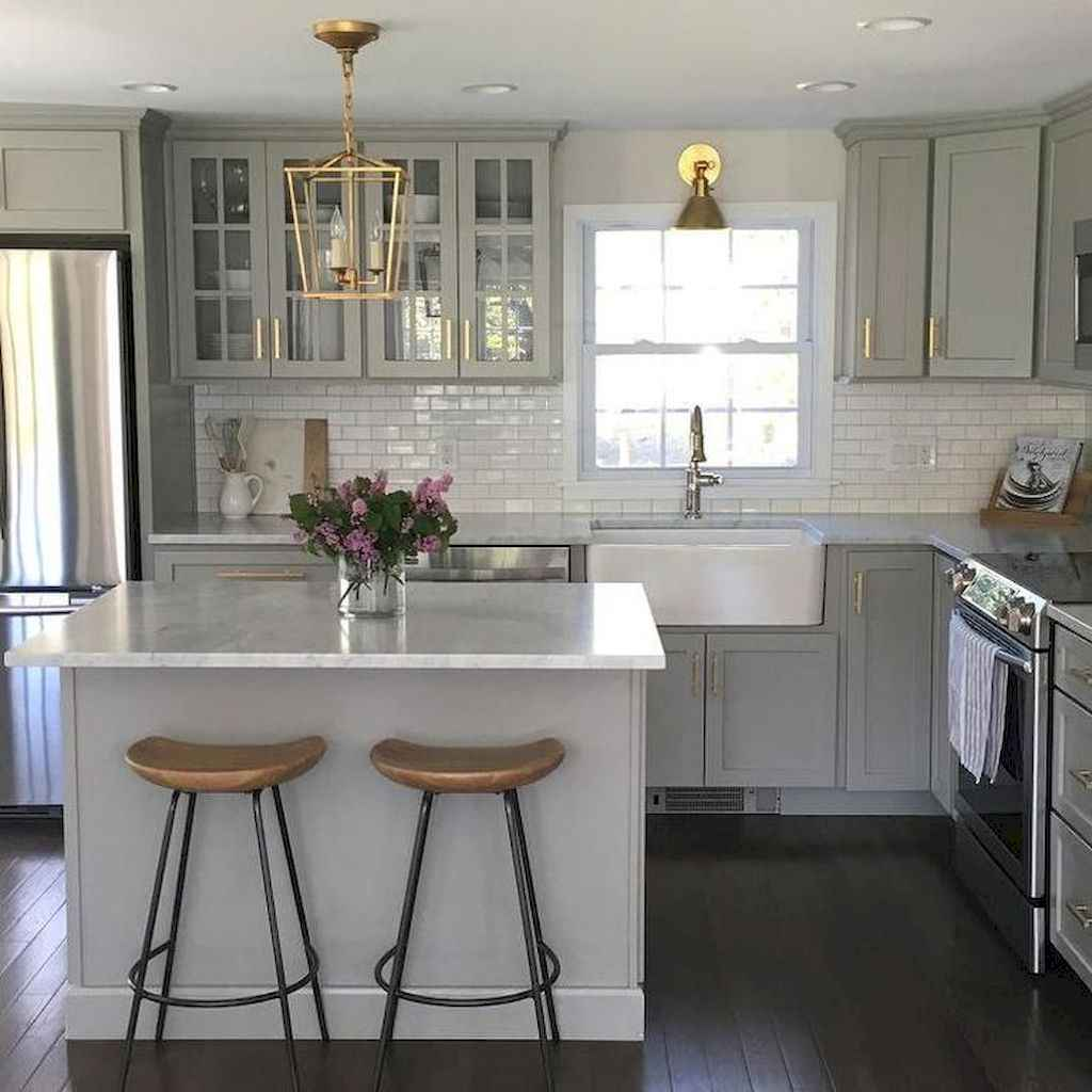 120 beautiful small kitchen design ideas and remodel to inspire your kitchen beautiful (64)