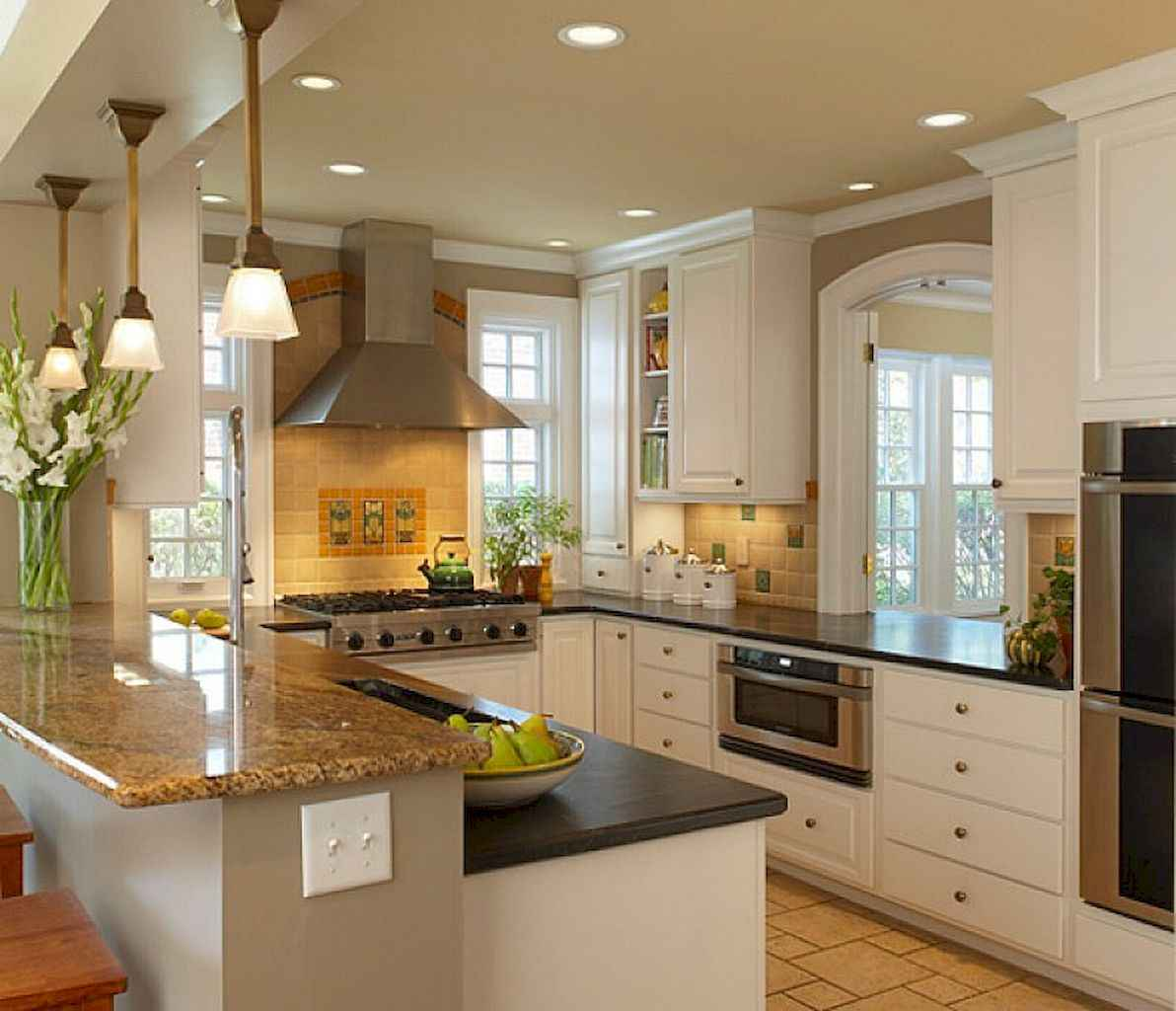 120 beautiful small kitchen design ideas and remodel to inspire your kitchen beautiful (66)