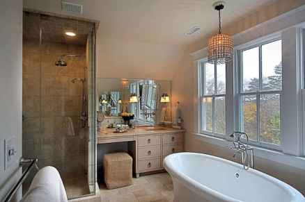 120 best modern farmhouse bathroom design ideas and remodel to inspire your bathroom (103)