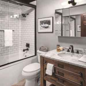 120 best modern farmhouse bathroom design ideas and remodel to inspire your bathroom (67)