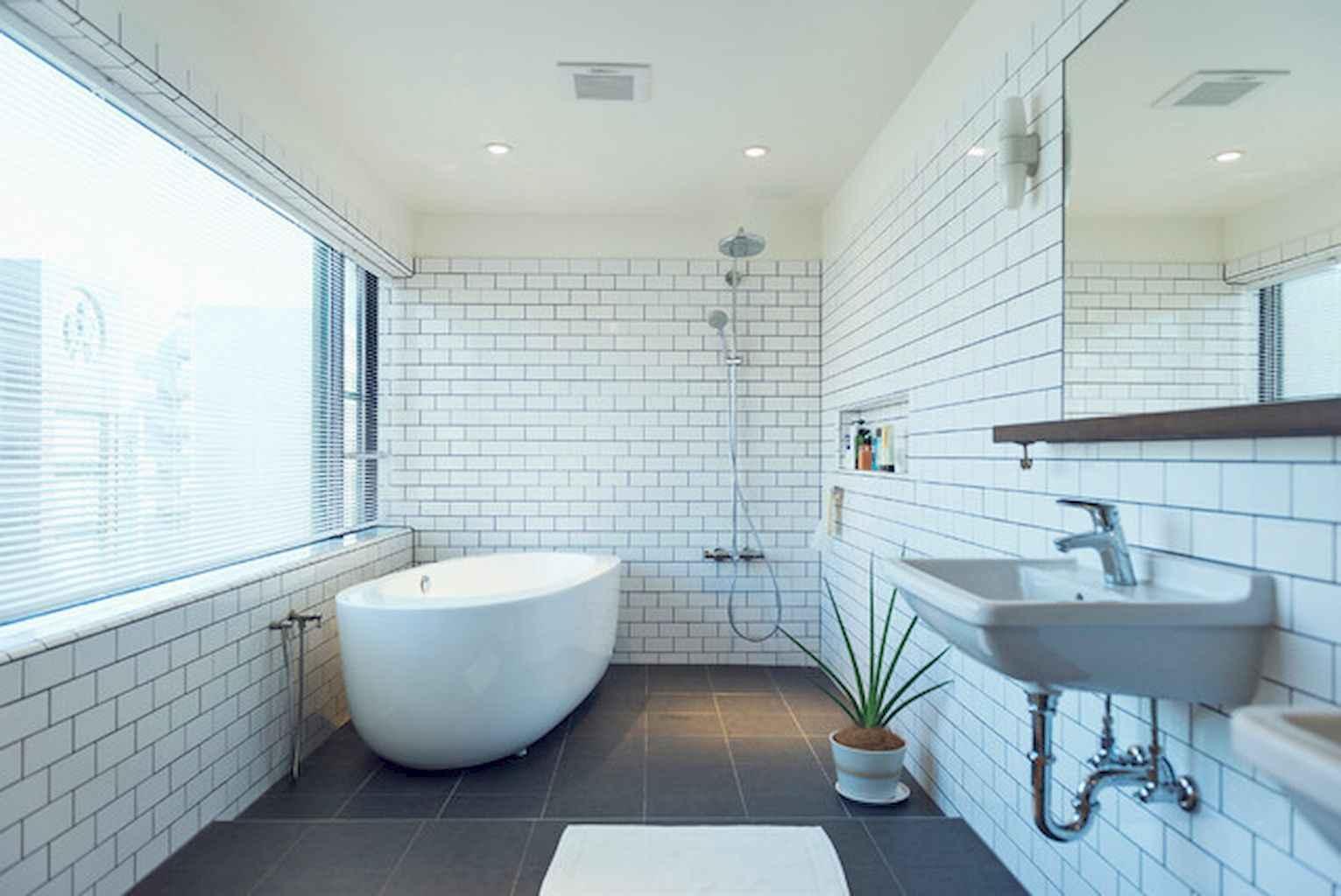 150 stunning farmhouse bathroom tile floor decor ideas and remodel ...