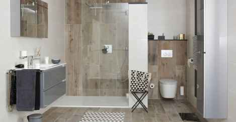 150 stunning farmhouse bathroom tile floor decor ideas and remodel to inspire your bathroom (101)