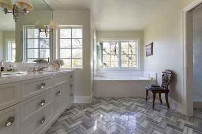 150 stunning farmhouse bathroom tile floor decor ideas and remodel to inspire your bathroom (103)