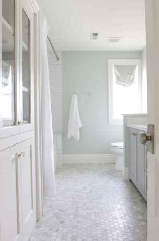 150 stunning farmhouse bathroom tile floor decor ideas and remodel to inspire your bathroom (11)