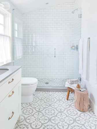 150 stunning farmhouse bathroom tile floor decor ideas and remodel to inspire your bathroom (18)