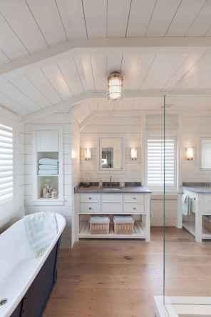 150 stunning farmhouse bathroom tile floor decor ideas and remodel to inspire your bathroom (19)