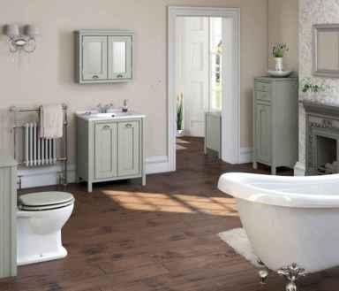 150 stunning farmhouse bathroom tile floor decor ideas and remodel to inspire your bathroom (20)