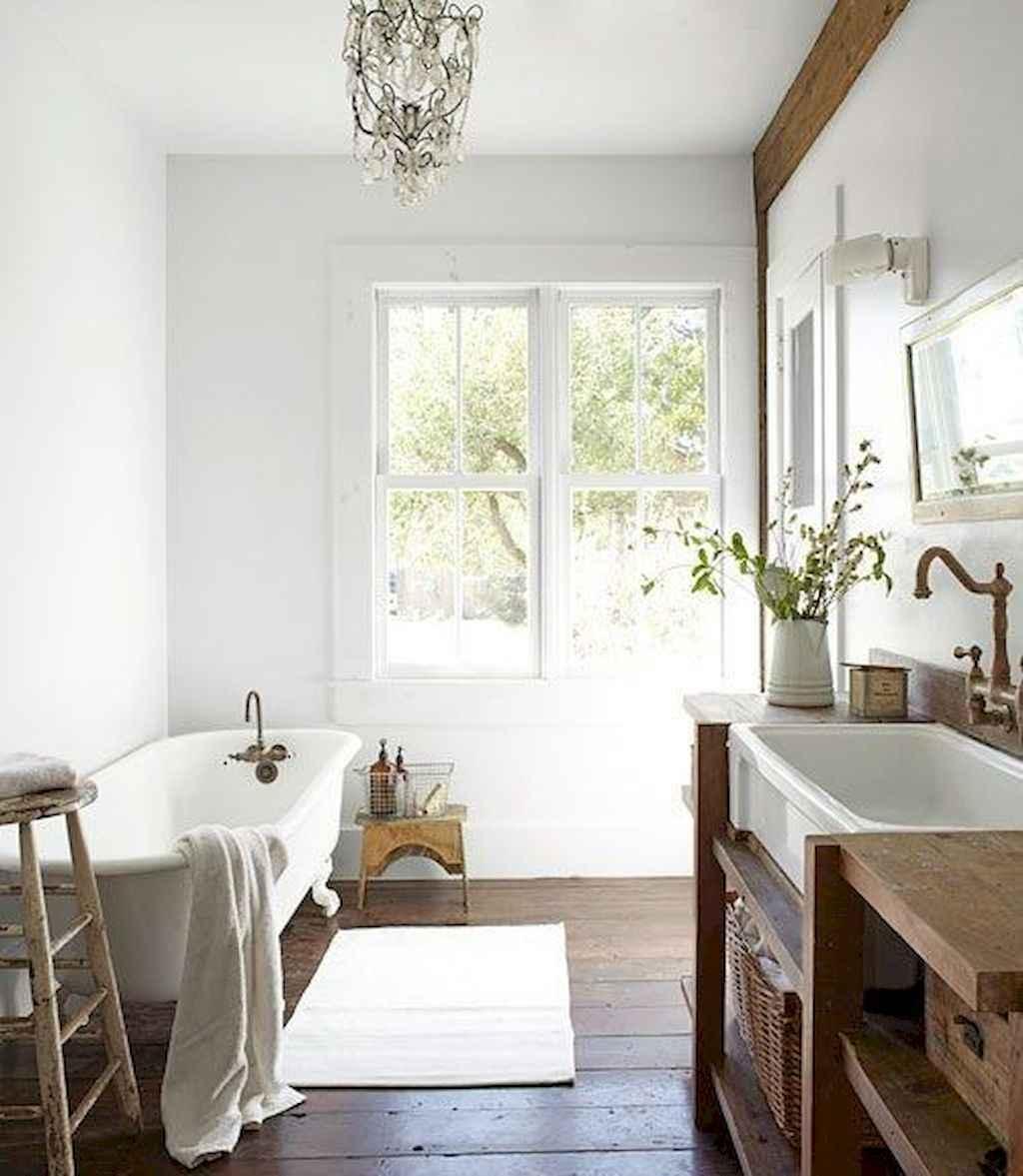 150 stunning farmhouse bathroom tile floor decor ideas and remodel to inspire your bathroom (26)