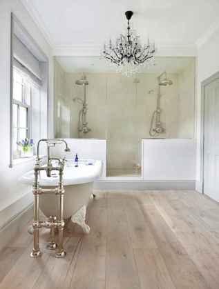150 stunning farmhouse bathroom tile floor decor ideas and remodel to inspire your bathroom (61)
