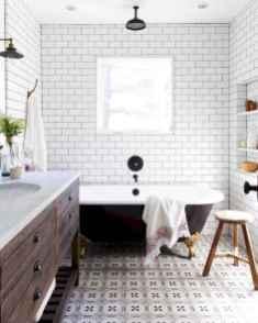 150 stunning farmhouse bathroom tile floor decor ideas and remodel to inspire your bathroom (9)