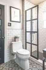 150 stunning farmhouse bathroom tile floor decor ideas and remodel to inspire your bathroom (95)
