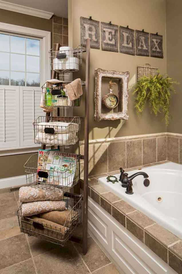 150 stunning small farmhouse bathroom decor ideas and remoddel to inspire your bathroom (148)