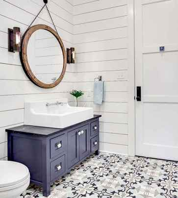 150 stunning small farmhouse bathroom decor ideas and remoddel to inspire your bathroom (31)