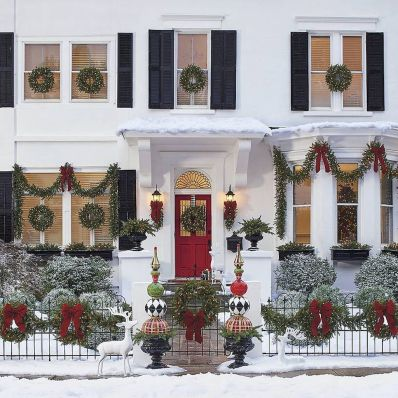 50 beautiful christmas porch decorations ideas and remodel (2)
