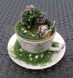 50 easy diy summer gardening teacup fairy garden ideas (15)