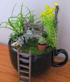50 easy diy summer gardening teacup fairy garden ideas (21)