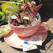 50 easy diy summer gardening teacup fairy garden ideas (38)