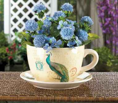 50 easy diy summer gardening teacup fairy garden ideas (42)