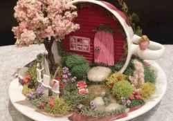 50 easy diy summer gardening teacup fairy garden ideas (46)