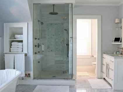 70 inspiring farmhouse bathroom shower decor ideas and remodel to inspire your bathroom (27)