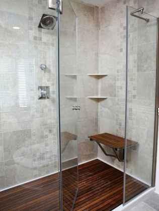70 inspiring farmhouse bathroom shower decor ideas and remodel to inspire your bathroom (28)