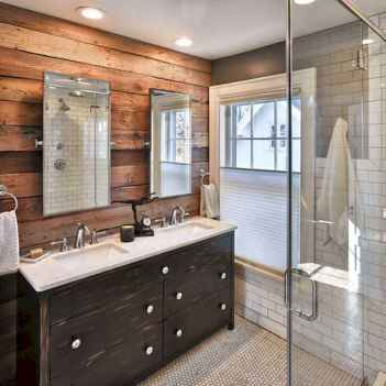 70 inspiring farmhouse bathroom shower decor ideas and remodel to inspire your bathroom (8)