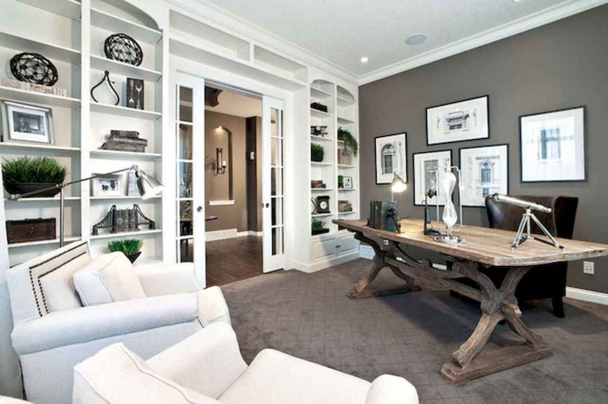 90 stunning home office design ideas and remodel make your work comfortable (61)