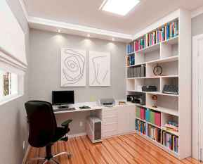90 stunning home office design ideas and remodel make your work comfortable (67)