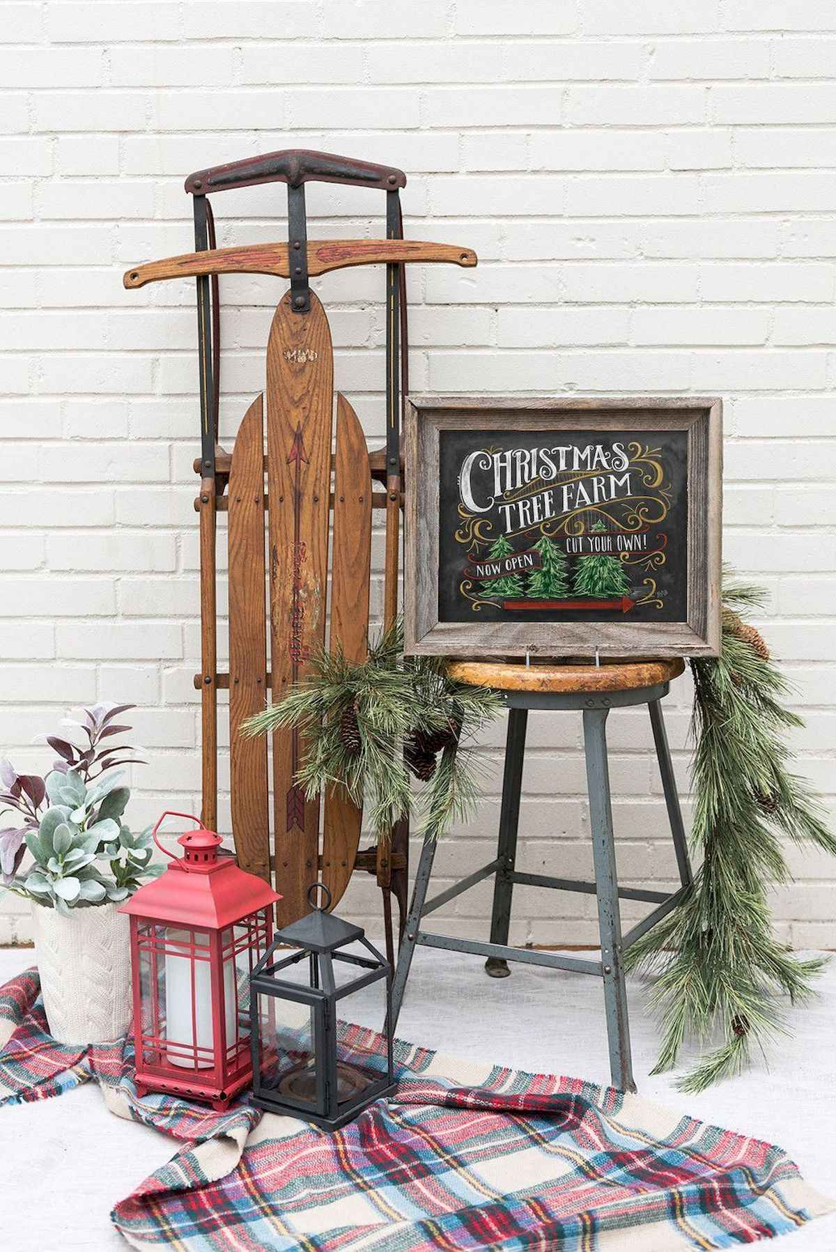 30 rustic and vintage christmas tree ideas decorations (1)