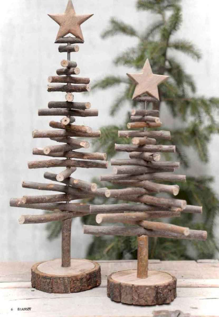 30 rustic and vintage christmas tree ideas decorations (13)