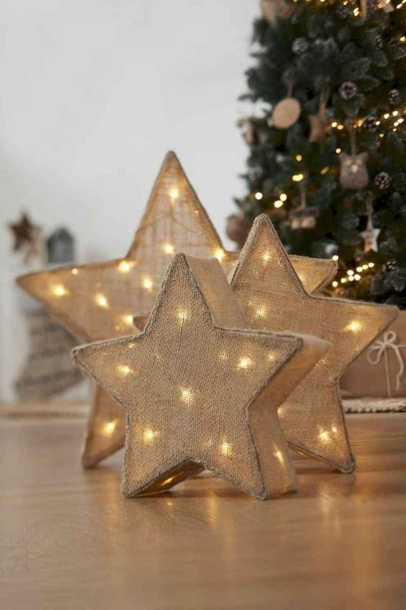 30 rustic and vintage christmas tree ideas decorations (14)