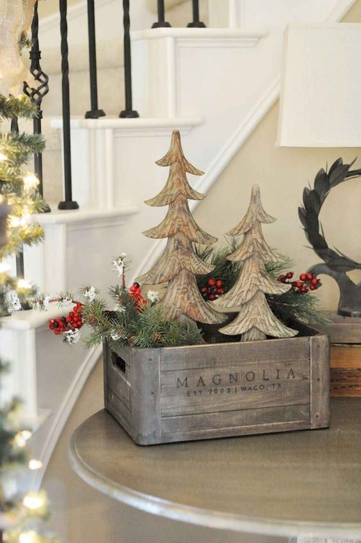 30 rustic and vintage christmas tree ideas decorations (2)