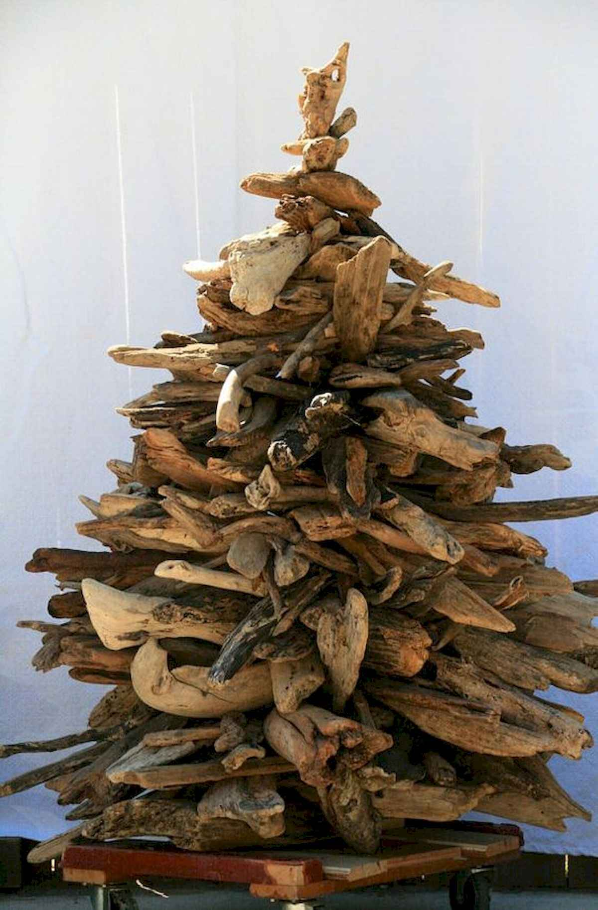 30 rustic and vintage christmas tree ideas decorations (23)