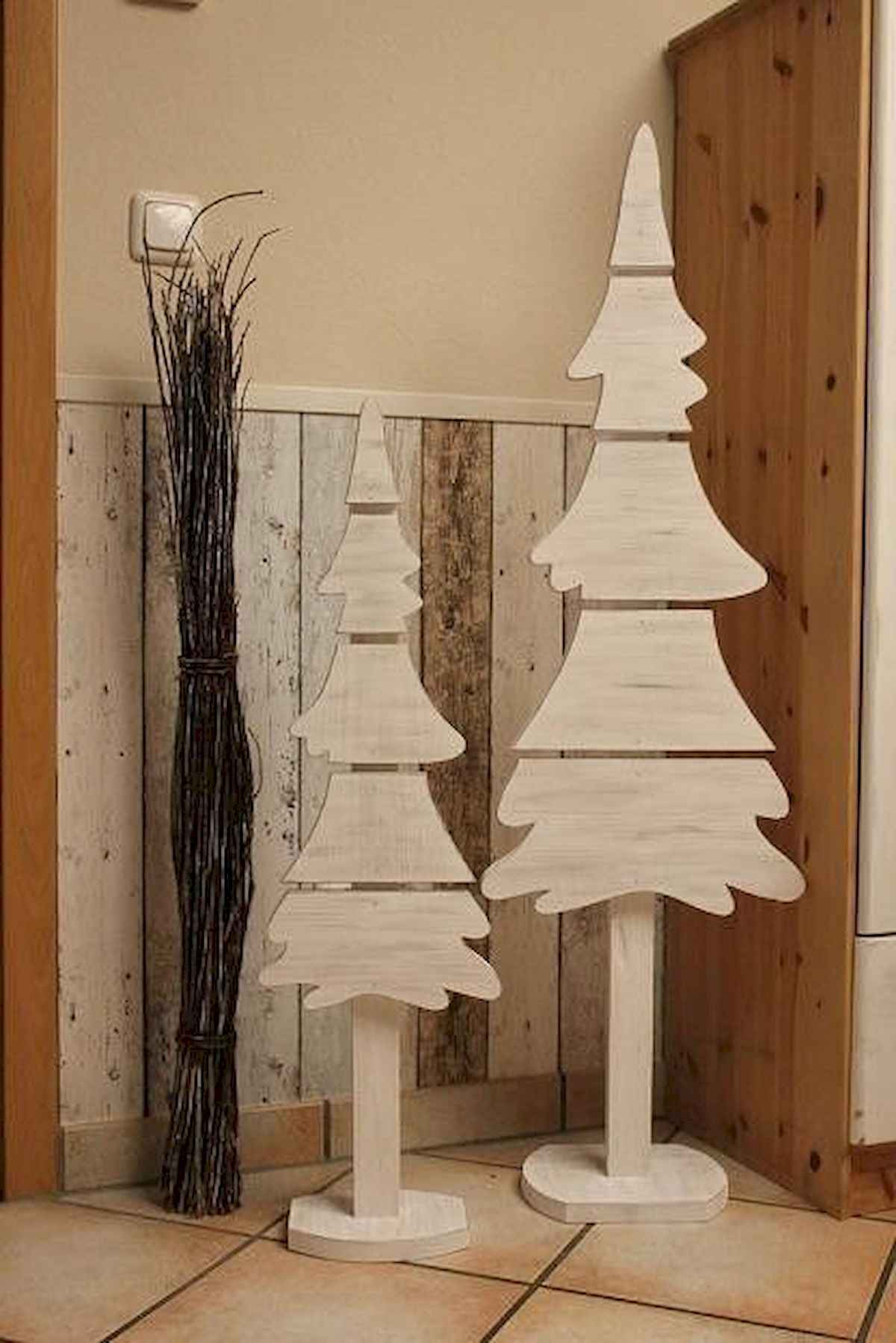 30 rustic and vintage christmas tree ideas decorations (26)