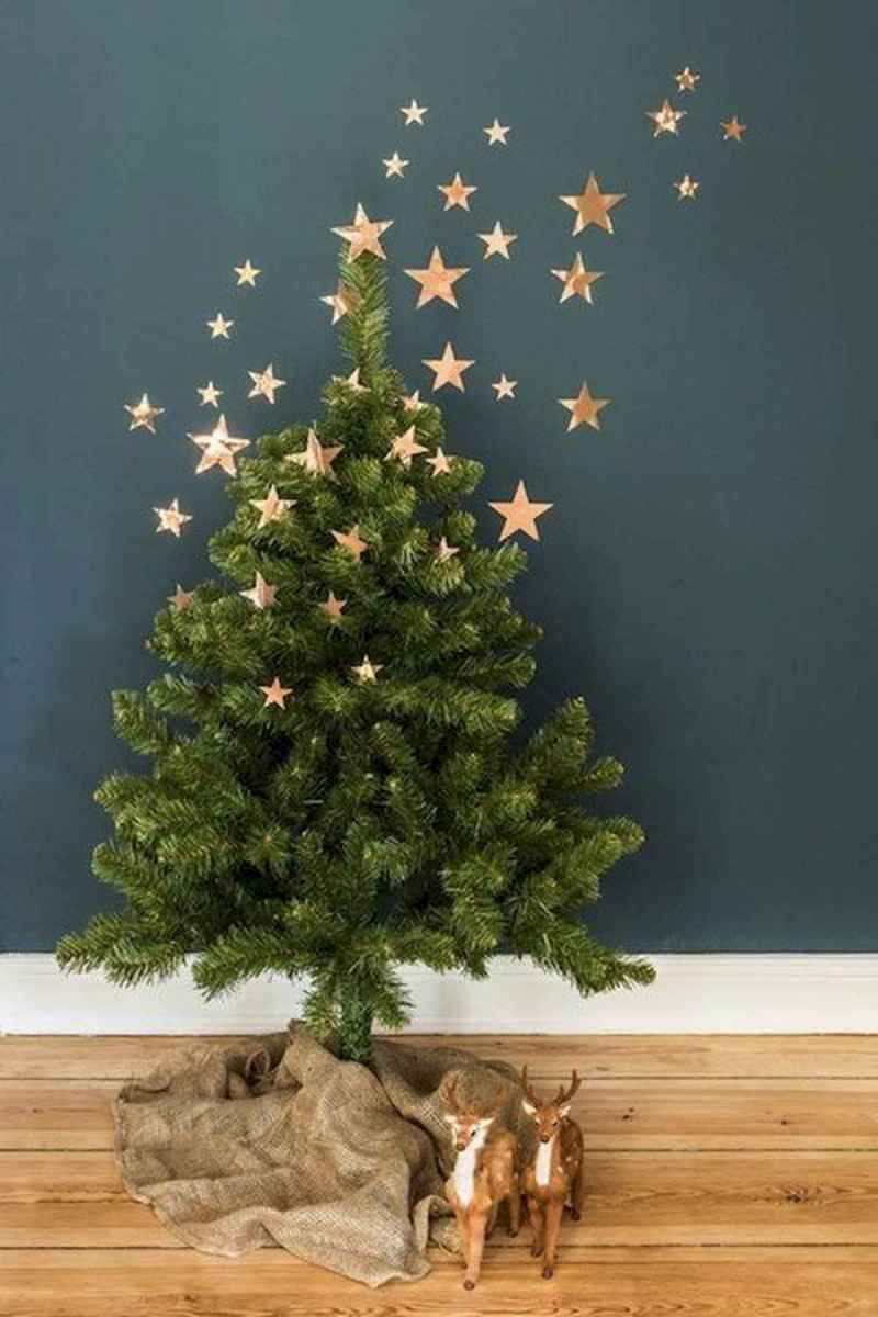 30 rustic and vintage christmas tree ideas decorations (5)