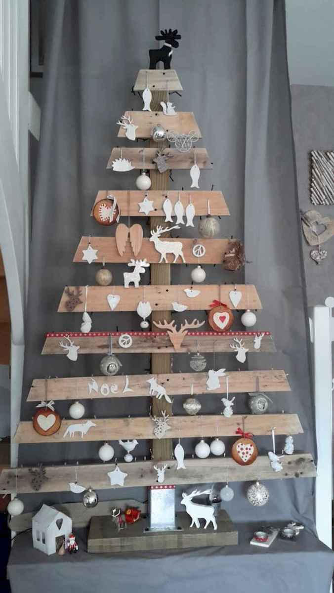 30 rustic and vintage christmas tree ideas decorations (8)